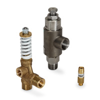 Brass and Stainless Steel Relief/Pop-Off Valves